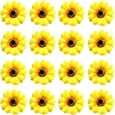 16 Pack Artificial Fake Yellow Large Daisy Sunflower Hair Pins Alligator Clips Barrettes Clamps Wedding Bridal Hair Styling Hawaiian Party Silk Flower Headpiece Beach Holiday Decoration for Women