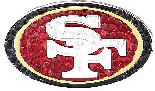 00f3246b Amazon.com: San Francisco 49ers Crystal Logo Brooch Pin: Jewelry