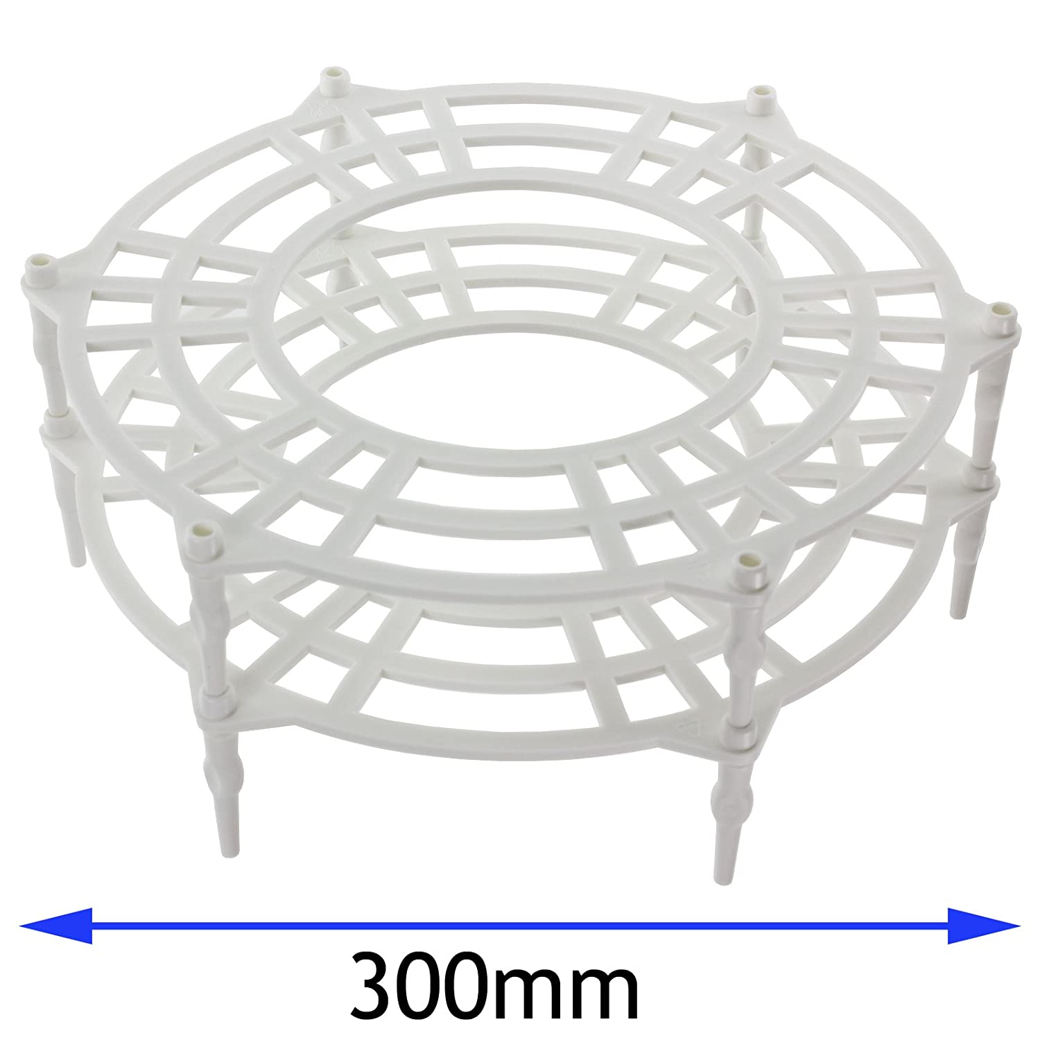 SPARES2GO 300mm Single + Double Tier Plate Stand Rack for Bosch Neff Siemens Microwave Ovens