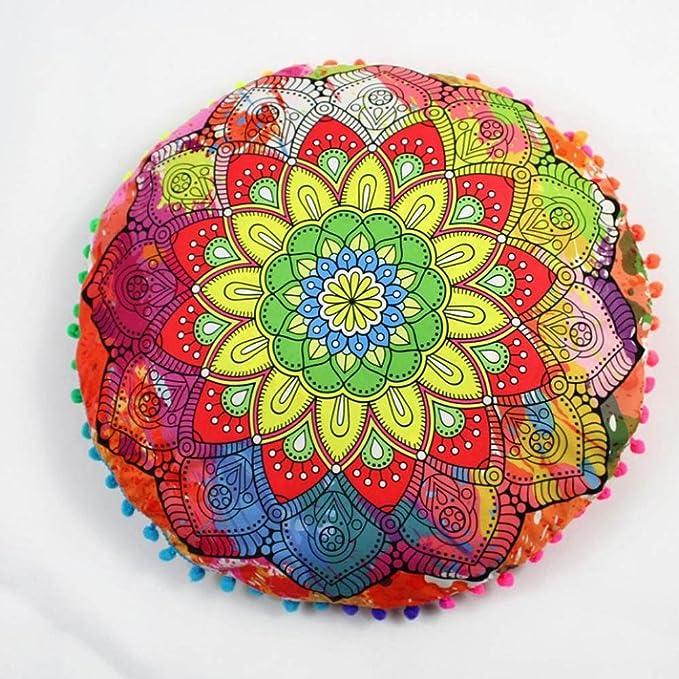Cojín de Yoga, Almohada de Yoga, Logobeing Fundas de Almohada Decorativas, Mejor Elige Para YOGINI, Mandala Almohadas de Suelo Bohemio, Sofás y ...