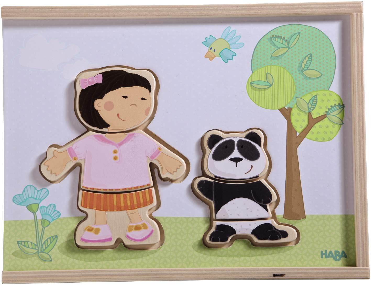 HABA Children of the World - 36 Piece Mix and Match Multi-Cultural Puzzle with Wooden Storage Box by HABA (Image #2)