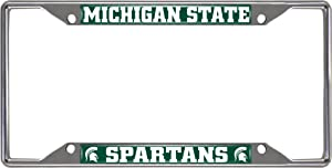FANMATS14865NCAA Michigan State University Spartans Chrome License Plate Frame