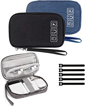 Storage Bag Case USB Data Cable Organizer Earphone Wire Pouch Travel  S L
