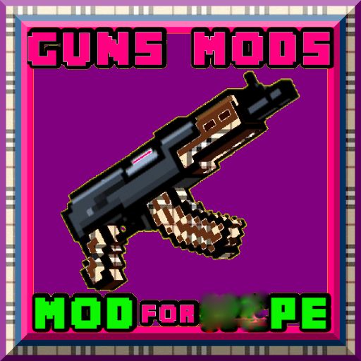 guns mods: for mcpe; 2018 (French Gold Santa)
