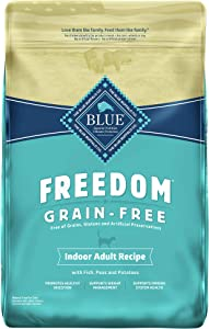 Blue Buffalo Freedom Grain Free Natural Indoor Adult Dry Cat Food Fish 11-lb.