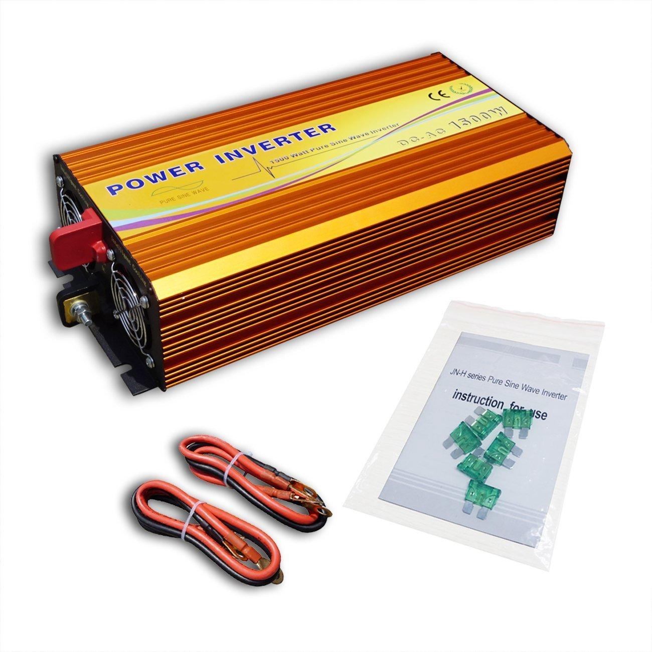 ECO-WORTHY 正弦波 MPPT機能 DC 12V-AC 110V インバータ 1500W 正弦波 ソーラーパネル/風力発電機システムなど発電用 B01N4VI53M