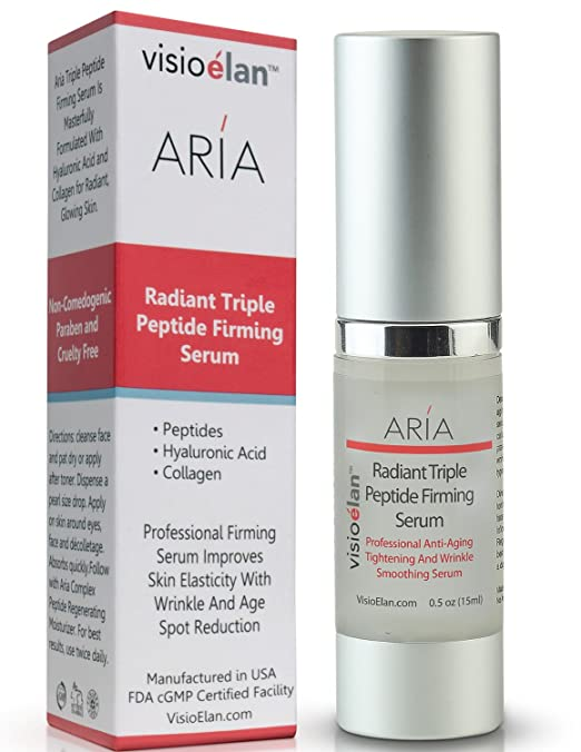 BEST 3 Peptide Firming Serum + Hyaluronic Acid + Collagen anti aging serum