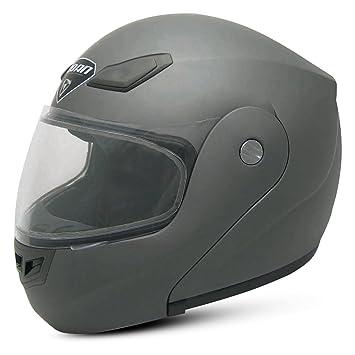 Zoan Goliath sólido mate plata Modular Full Face casco de moto 2 x -Large