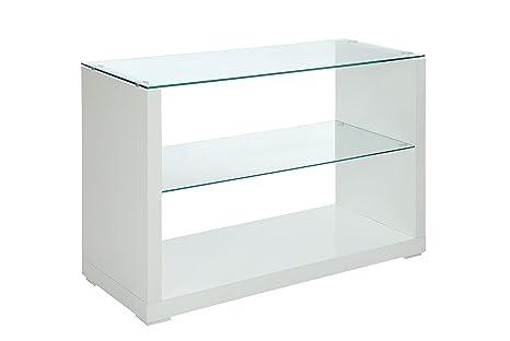 Amazon.com: Muebles de América Nelson Alto Brillo sofá mesa ...