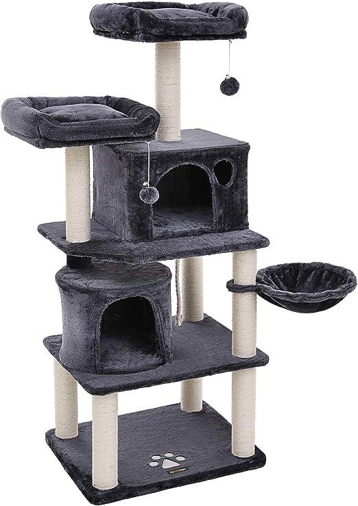 FEANDREA Árbol para Gatos, Rascador para Gatos con Postes Recubiertos de Sisal, Varias Plataformas, Centro de Actividades para Gatos PCT90G: Amazon.es: Productos para mascotas