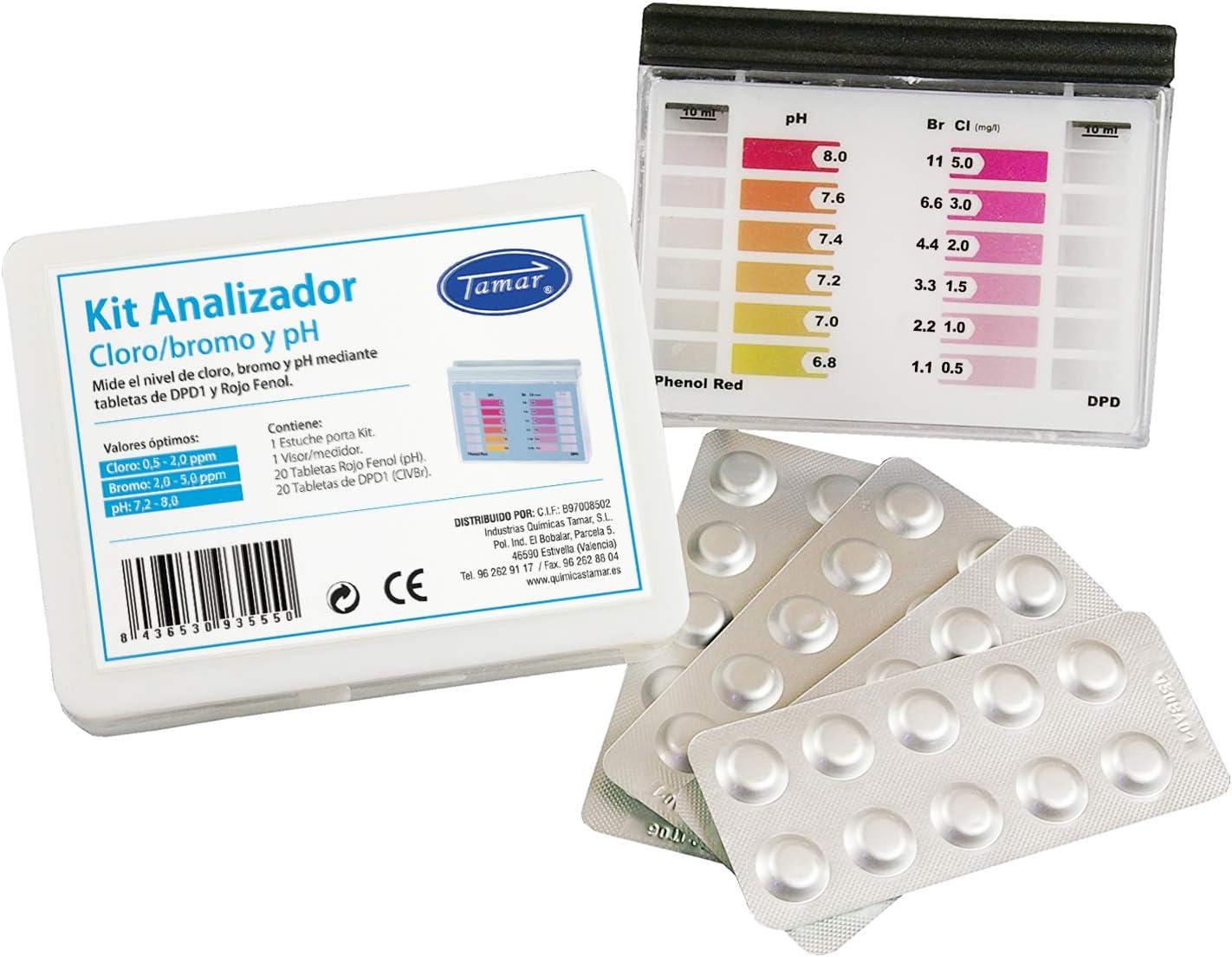 Tamar - Test Kit DPD1 Cloro/Bromo y pH, medidor de Cloro/Bromo y ...