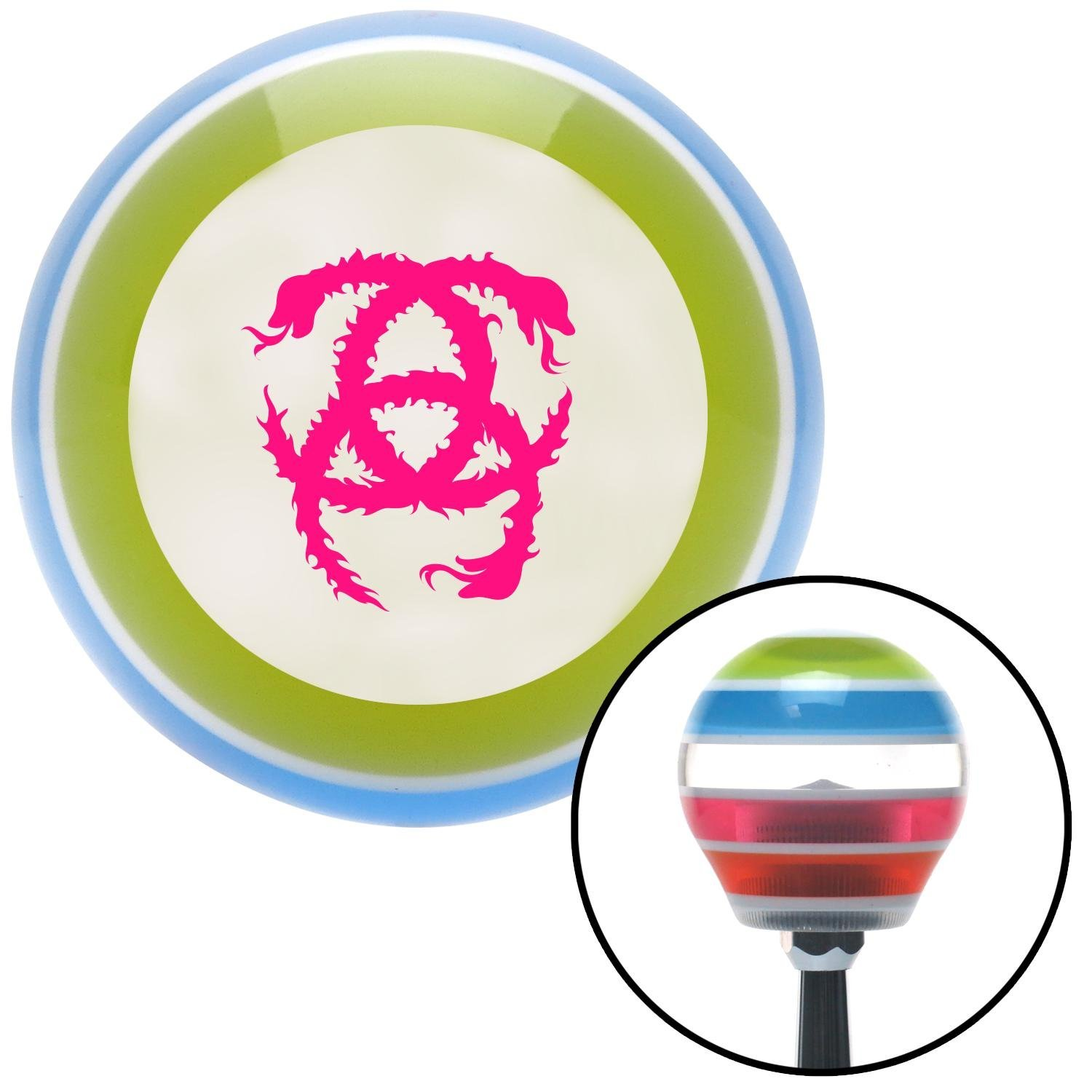 Pink Heraldic Snakes American Shifter 133071 Stripe Shift Knob with M16 x 1.5 Insert