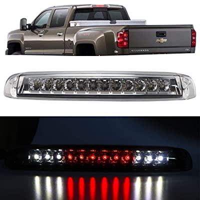 Youxmoto LED 3rd Brake Light Rear Tail Lamp Cargo Lamp for 1999-2006 Chevrolet Silverado 1500 | 2500 | 3500, 2007 Chevrolet Silverado Classic 5978318 16525205 (Chrome Housing Clear Lens): Automotive