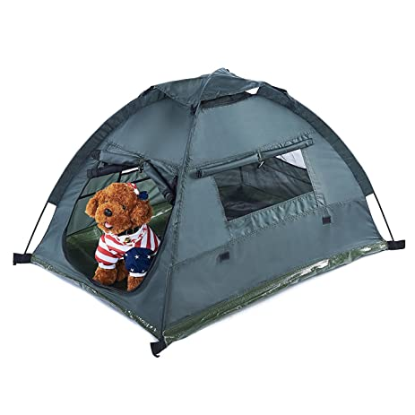 Pettom Dog Cat C&ing Tents Pet Travel Bed Pop Up Beach Tent Portable  sc 1 st  Amazon.com & Amazon.com : Pettom Dog Cat Camping Tents Pet Travel Bed Pop Up ...