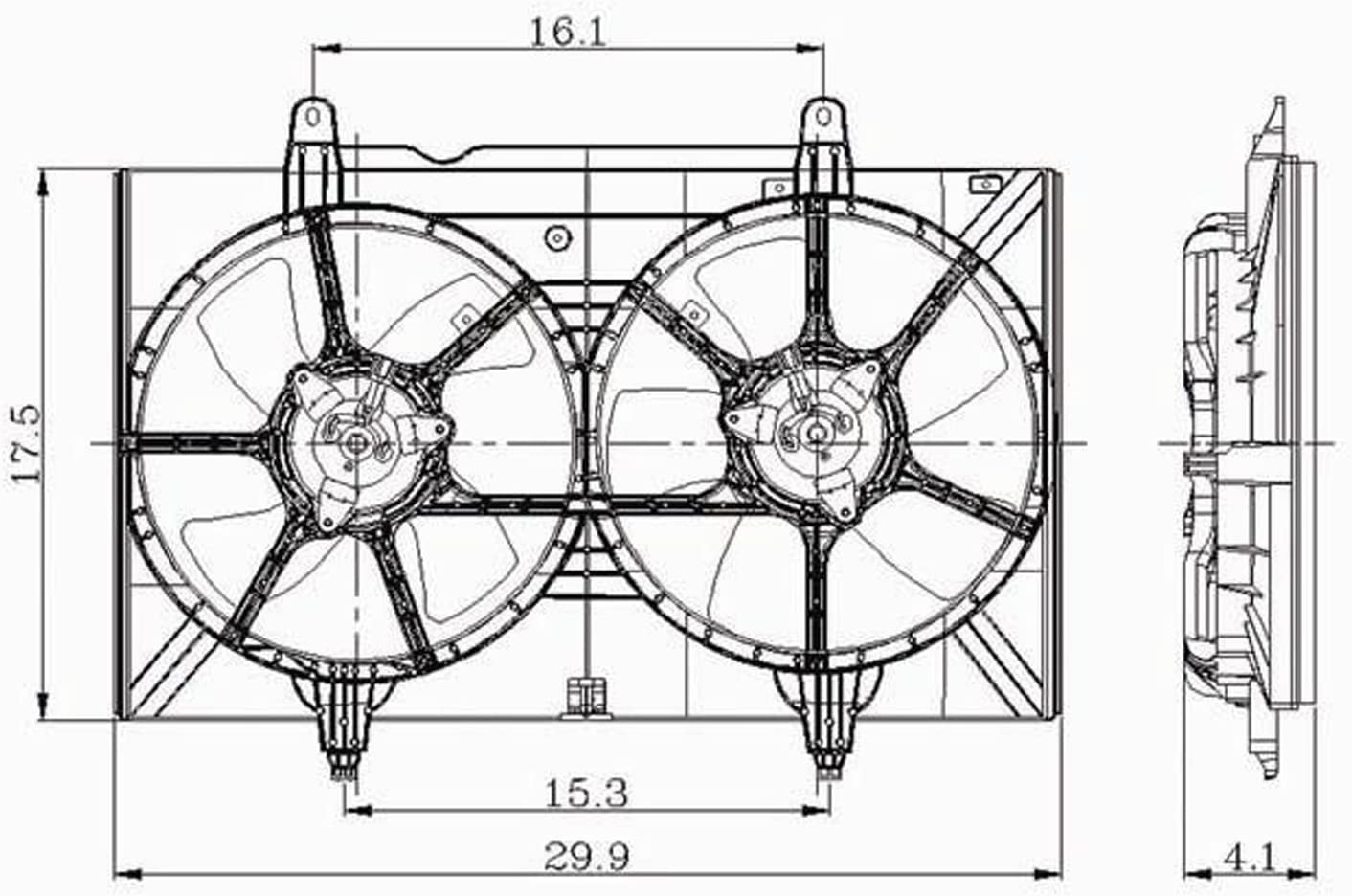 Radiator Cooling Fan For 2004-2009 Nissan Quest