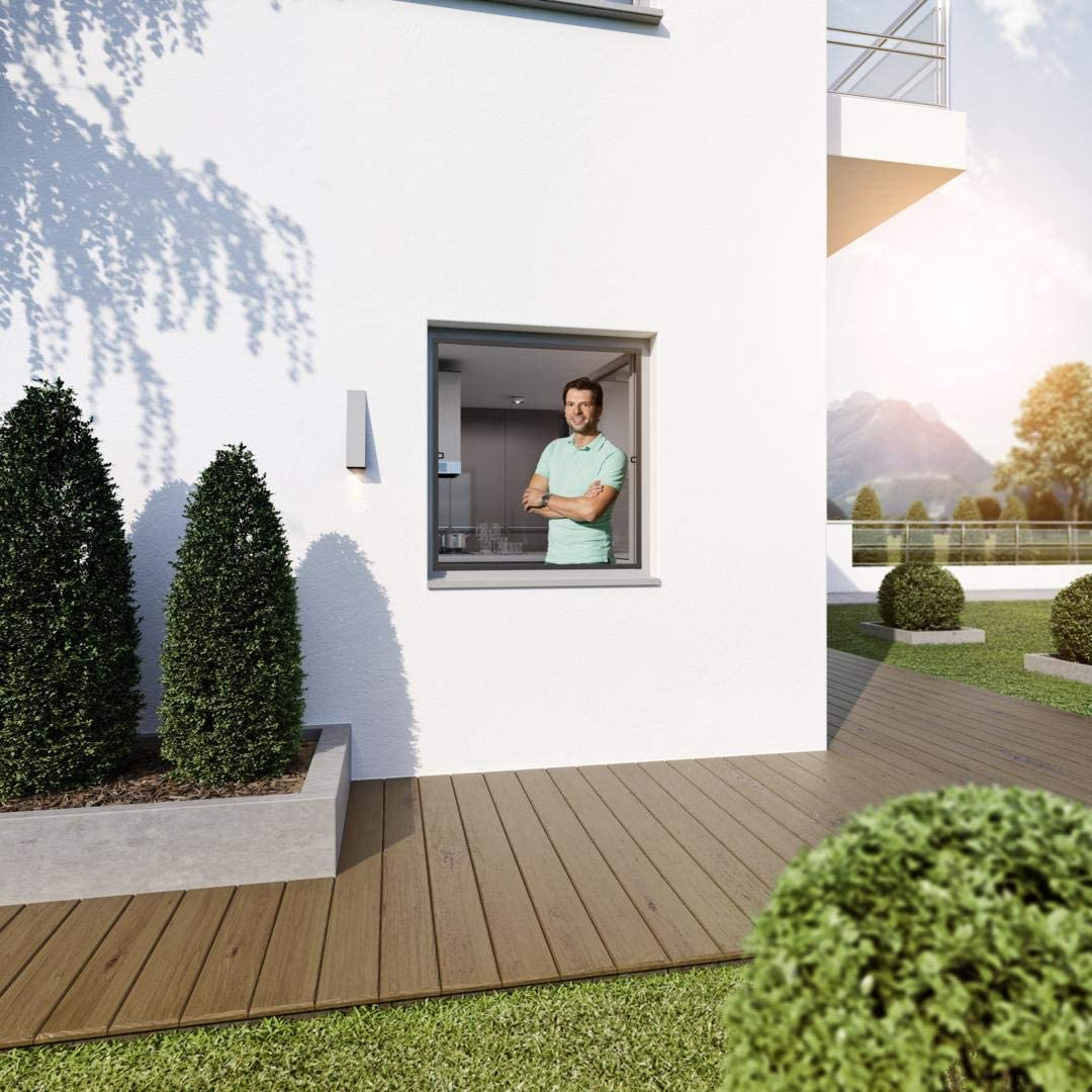 WIP Insektenschutz Rahmenfenster SLIM 120x150cm anthrazit