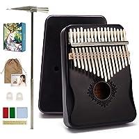 Kalimba 17-Keys Thumb-Piano mbira-kalimba - with Study Instruction and Tune Hammer Portable Mbira Sanza African Wood…
