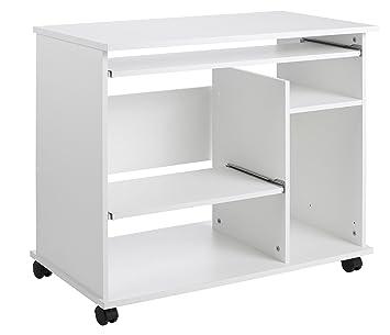 Computertisch mit rollen  1169 - Computertisch auf Rollen, in weiss: Amazon.de: Küche & Haushalt