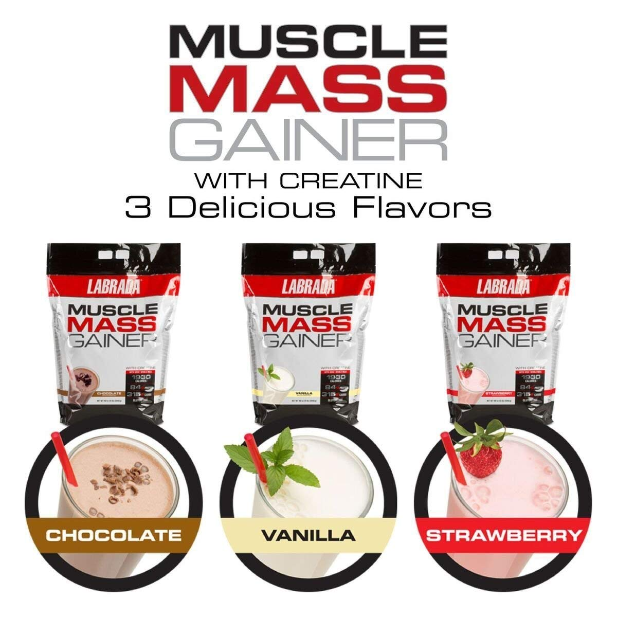 Labrada Nutrition Muscle Mass Gainer, Chocolate, 12 Pound by Labrada (Image #5)