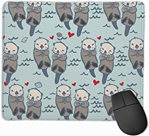 Mouse Pad Sea Otter Mousepad Non-Slip Rubber Gaming Mat Rectangle Pads for Computers Laptop Mouse Pad