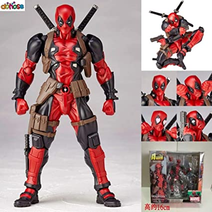 Amazon.com: VIETFR Face Optional Deadpool Action Figure with ...