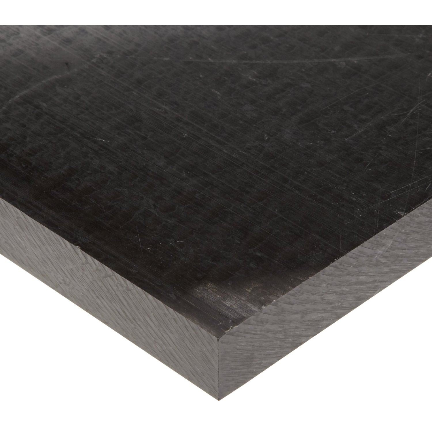 - Black Nominal Extruded Acetal Sheet 12x 24 x 0.125 Thick