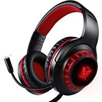 Auriculares para PS4, Surround Bass Sound para Xbox One, PC, Mac, Portátil y Tablet, Pacrate H-11 Auriculares Diadema…
