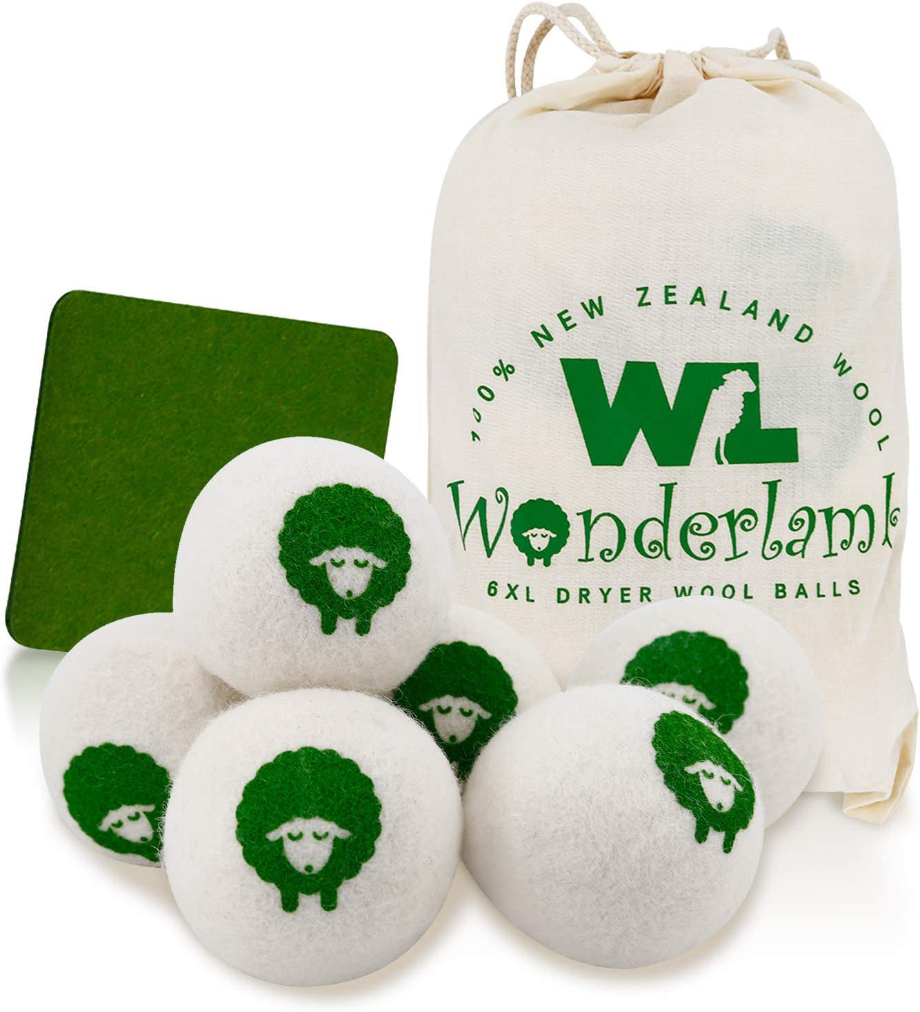 Amazon Com Wool Dryer Balls By Wonderlamb 6 Packs Xl Reusable Organic Natural Wool For Laundry Lint Free Anti Static Ball Dryer Fabric Softener And Dryer Sheets Replacement Unscented And Baby Safe Electronics