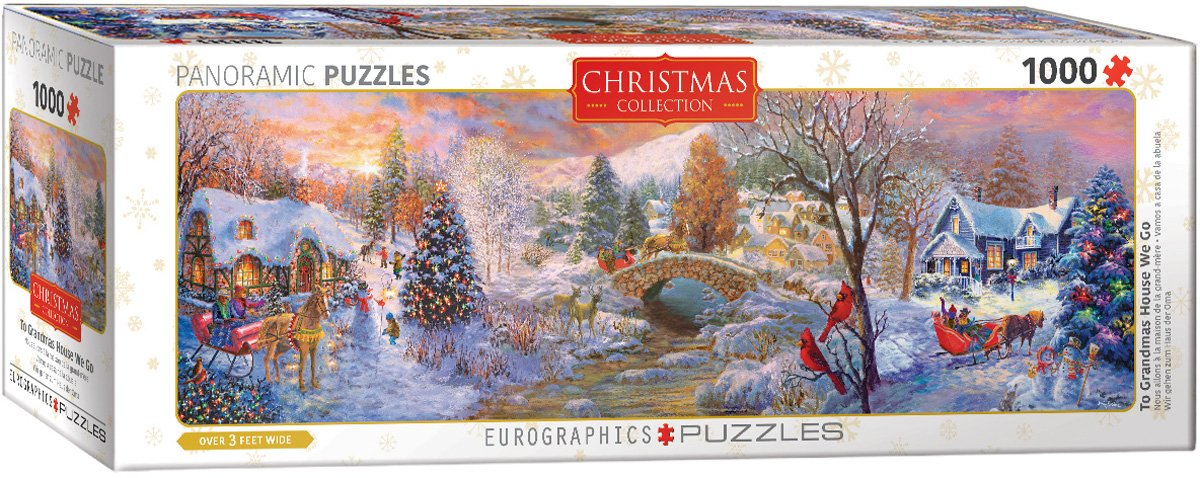 Amazon.com: EuroGraphics to GrandmaS House We Go 1000Piece Puzzle: Toys & Games