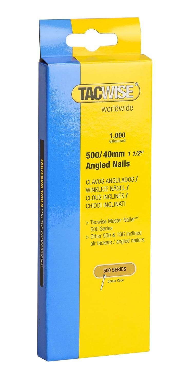 Tacwise 0483 Clavos angulados de tipo 500 x 40 mm caja de 1000 unidades 40 mm Set Piezas
