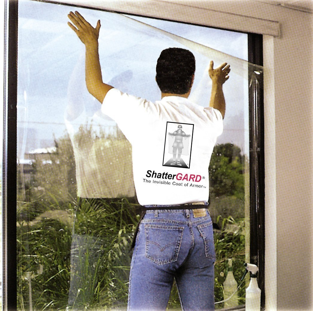 Glass Protection Film |36'' x 25'| Security Window Film Kits by ShatterGARD. (DIY) BurglarGARD Glass Protection Film Helps Defend Against Burglars, Violent Home Invaders