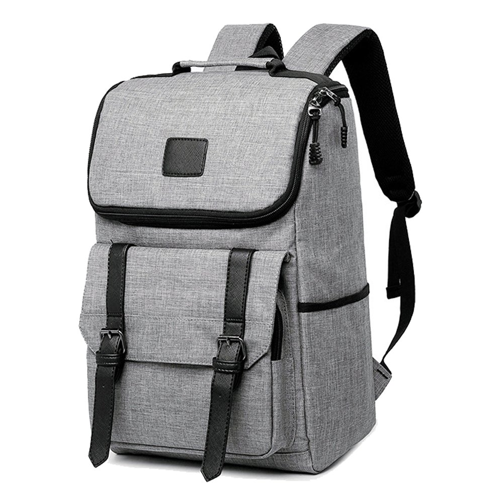 Unisex Professional Slim Business Backpacks Laptop, Feskin Fashion Lightweight Casual Tablet Backpack Daypacks Shoulder Bags for School Students Laptop Macbook Computer - Grey