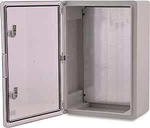Caja de plástico ABS BOXEXPERT Caja de control de la flota IP65 gris/transparente (ABS, 500x350x190mm con puerta transparente): Amazon.es: Bricolaje y herramientas