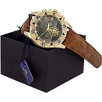 Relógio Masculino Orizom Original Pulseira de Couro + caixa