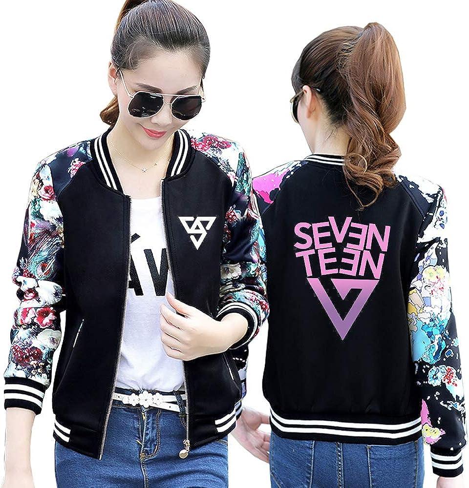 Seventeen Pullover Manteau /à Manches Longues Classique cor/éenne Style duniversit/é Veste de Mode Casual Sweat /à Manches Longues Manteaux Unisexe
