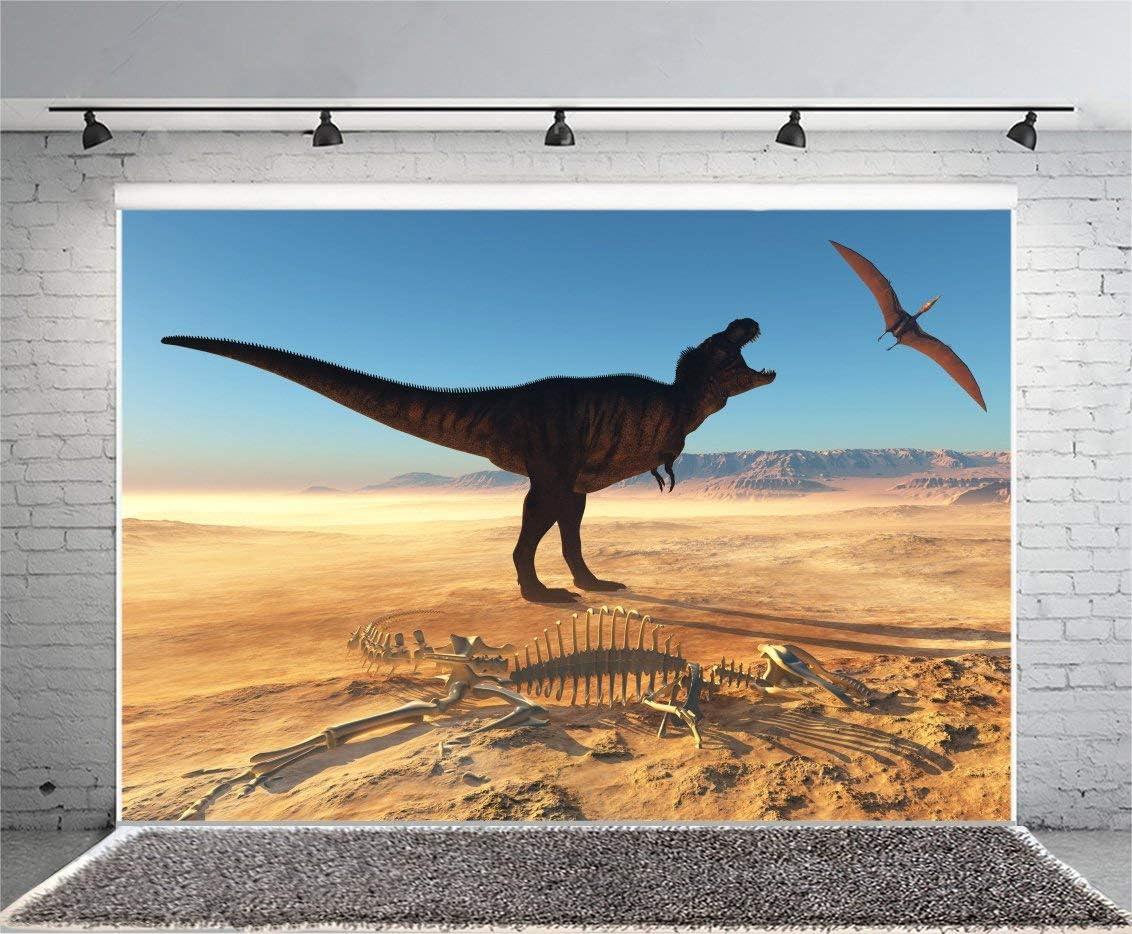 Dinosaur Fossils Backdrop 7x5ft Dinosaur Skeleton Backdrops Desert Natural Landscape Dinosaur Photography Background Annihilation Animal Photo Background Studio Props