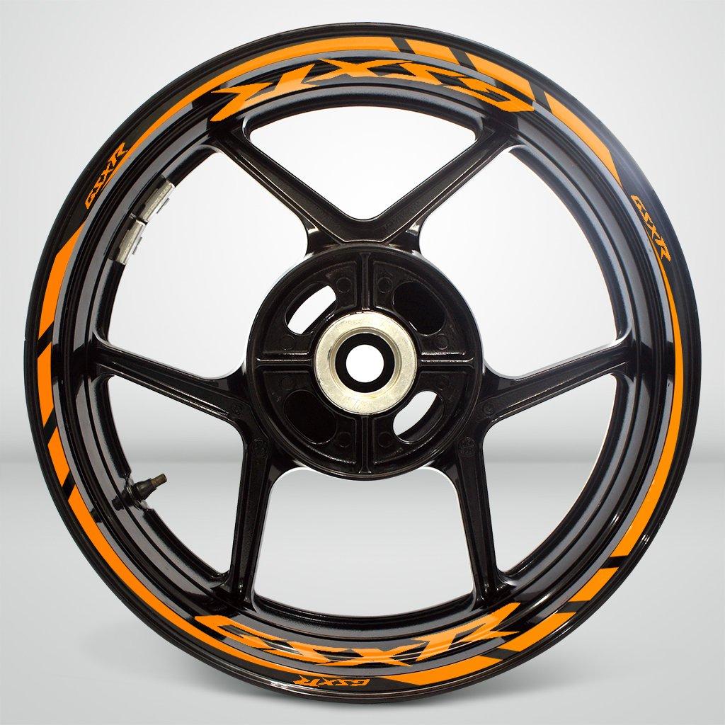 Matte Yellow Motorcycle Rim Wheel Decal Accessory Sticker SDPKPWPSU039MY