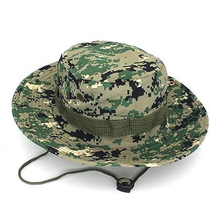 633b6704f73 Outdoor Fisherman Hat Unisex Men Women Hiking Fishing Camouflage Jungle Hat  Climbing Tactics Cap Rounded Sun
