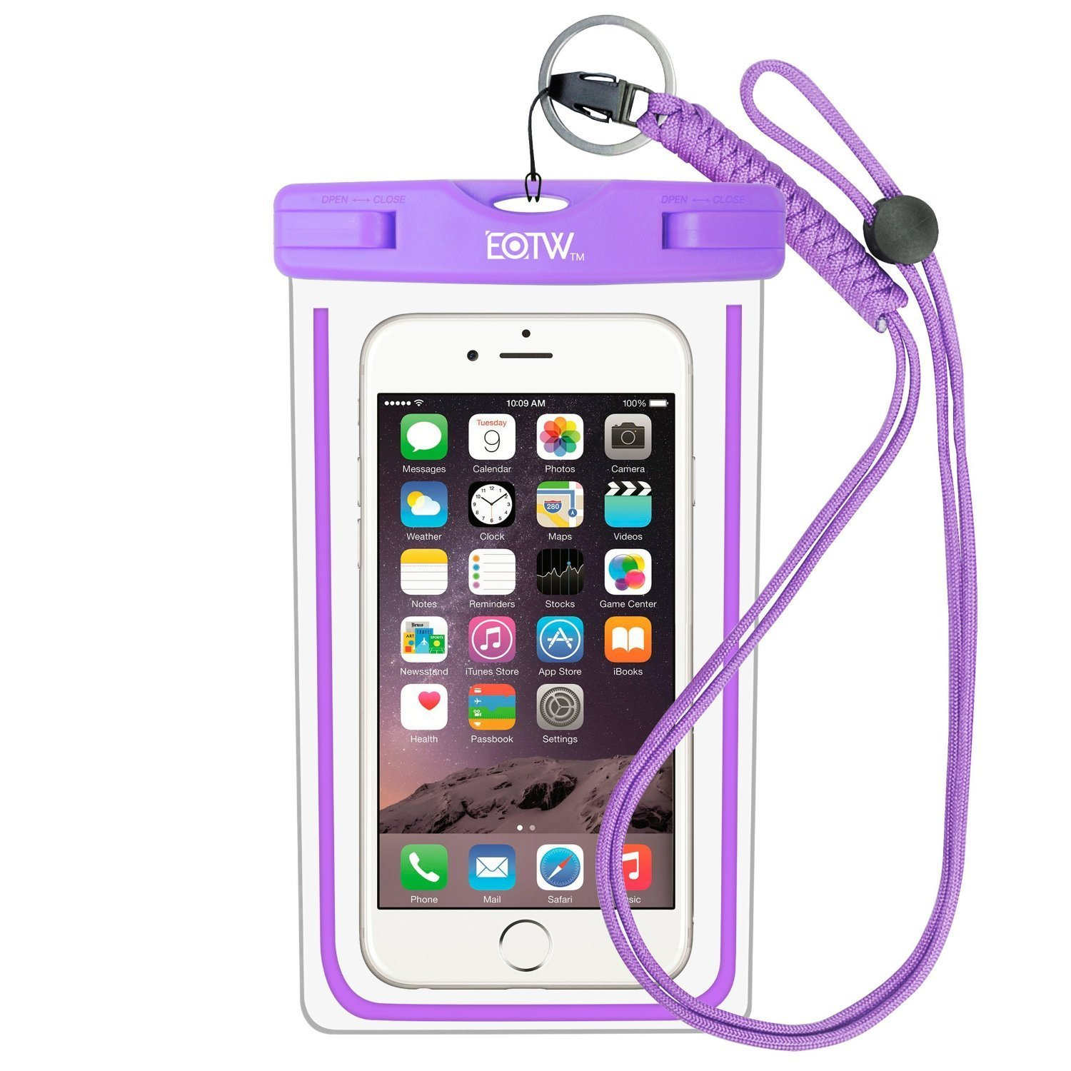 """EOTW Waterproof Phone Pouch, IPX8 Universal Waterproof Case Bag Fit for iPhone Xs Max XS XR X Samsung Galaxy s10/s9/s8 up to 6.5"""" Protective Pouch for Water Parks/Beach/Cruise/Pools"""