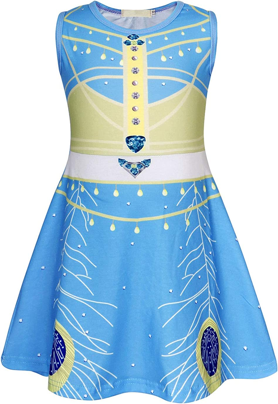 Cotrio Princess Jessie Costume Dress Toddler Girls Birthday Halloween Cosplay Dress Up