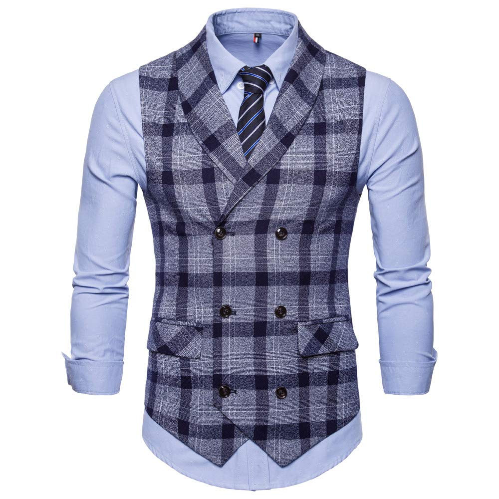SMALLE ◕‿◕ Clearance,Men Button Casual Print Sleeveless Jacket Coat British Suit Vest Blouse by SMALLE (Image #2)