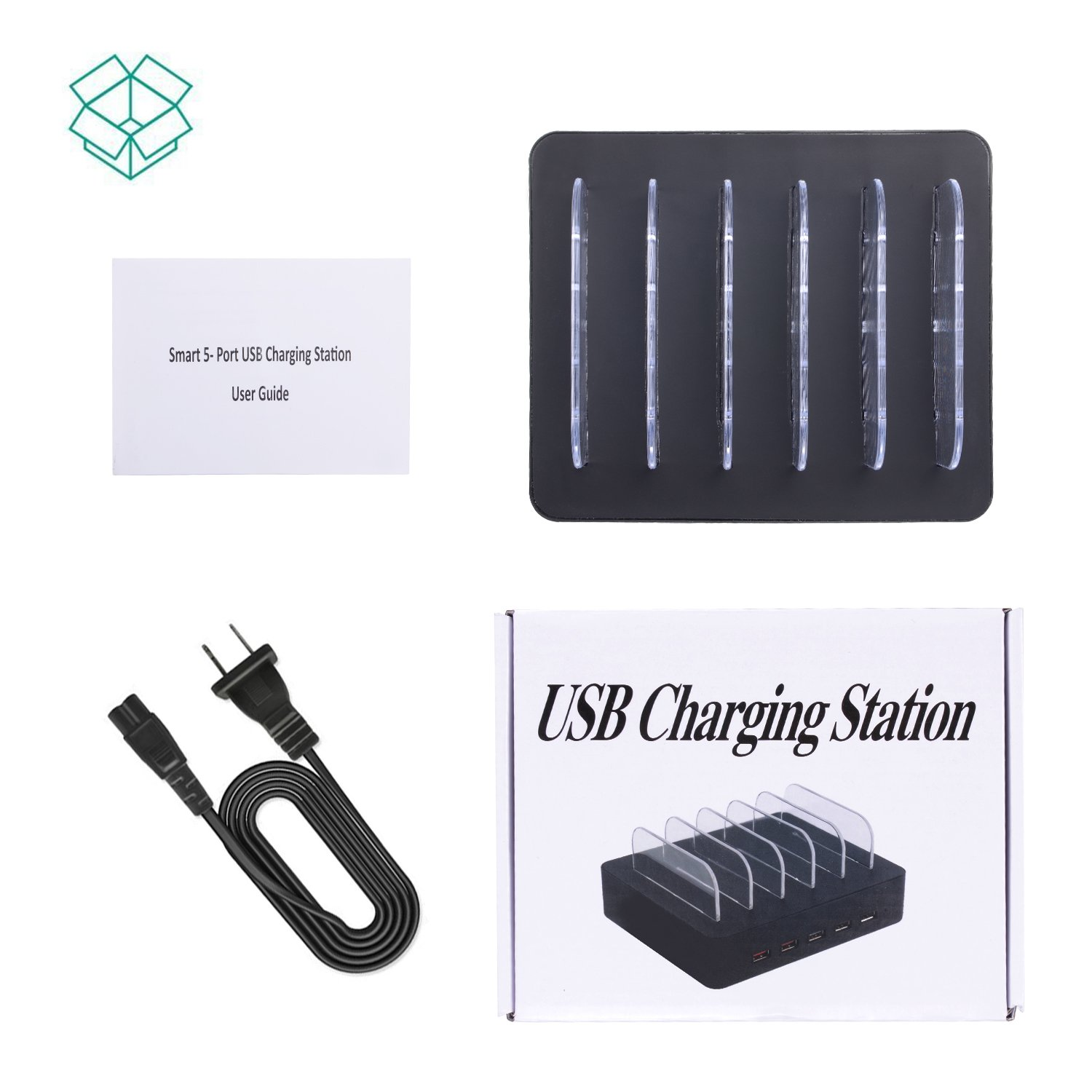 Fastest Charging Station for Multiple Devices, Othoking USB 5-Port Charging Station Dock & Charging Stand Organizer with QC 3.0 for Smartphones, Tablets & Other Gadgets by OthoKing (Image #7)