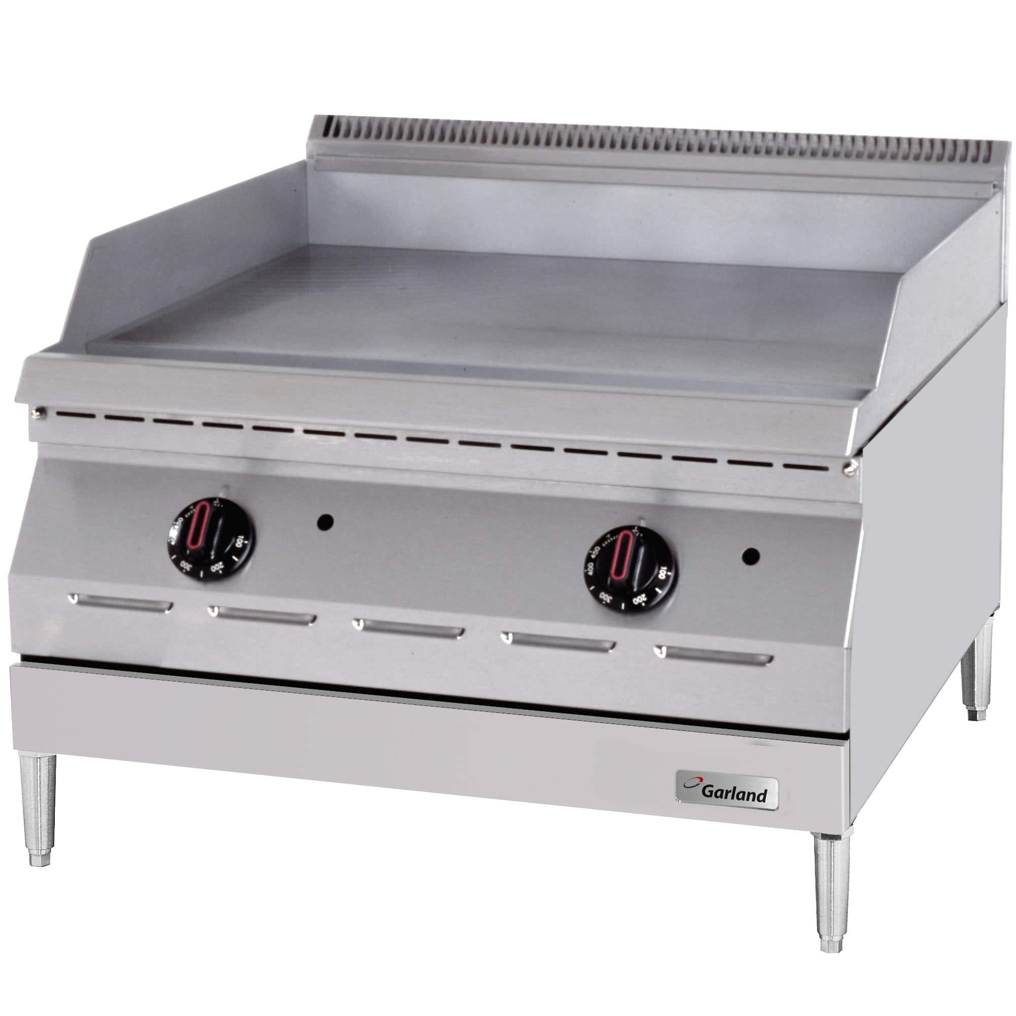 TableTop King GD-24GTH Designer Series Liquid Propane 24'' Countertop Griddle with Thermostatic Controls - 40,000 BTU