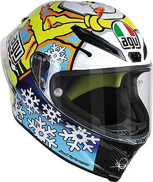 Motocicleta Casco Agv pista GP Invierno prueba 2016 VR46