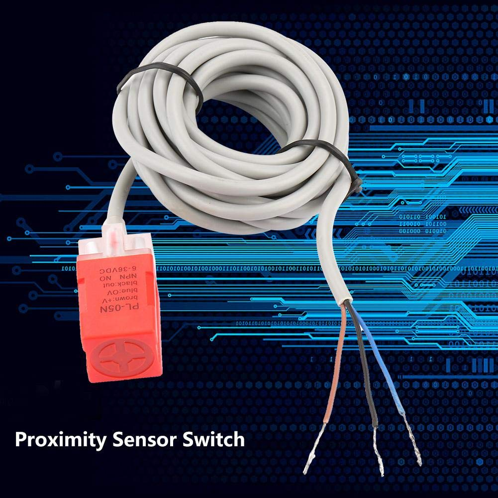 PL-05N NPN 5mm ABS Material Proximity Sensor Switch Detection