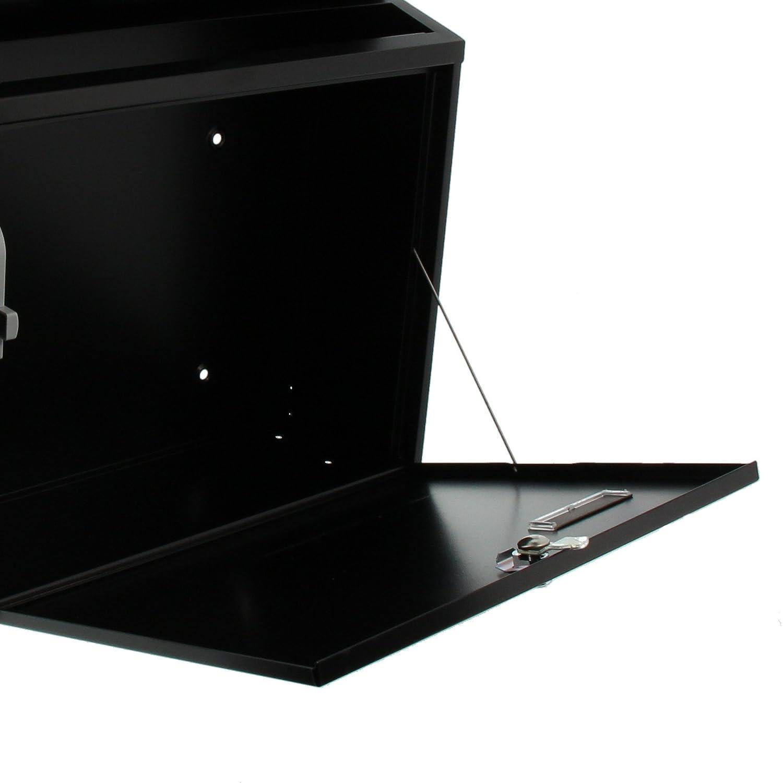 Format de Fente : A4 Noir Acier Galvanis/é BURG-W/ÄCHTER Bo/îte aux Lettres avec Couvercle Basculant Norme UE EN 13724 Comfort 913 S