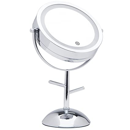 Amazon mirrorvana 7 inch dual sided magnifying led lighted mirrorvana 7 inch dual sided magnifying led lighted vanity makeup mirror with jewelry hooks aloadofball Gallery