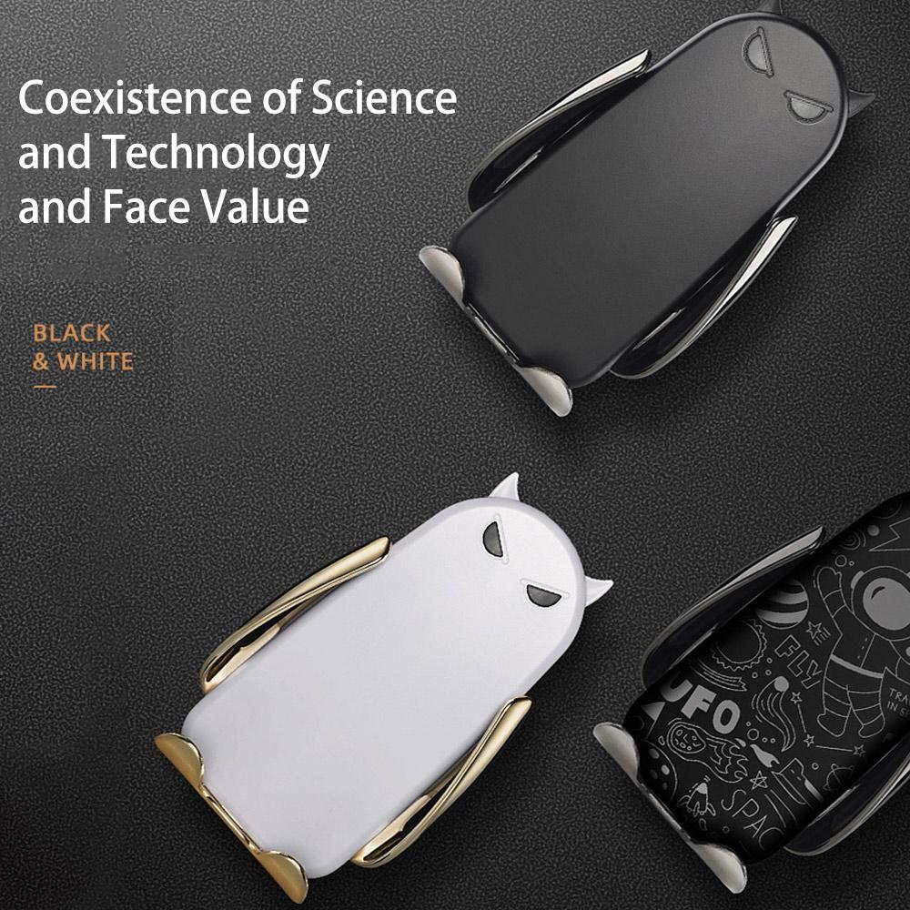 con Soporte de ventilaci/ón para iPhone XS MAX X 8 Plus XS lesgos Huawei Mate 20 Pro//RS P30 Pro Cargador de Coche inal/ámbrico de sujeci/ón autom/ática XR