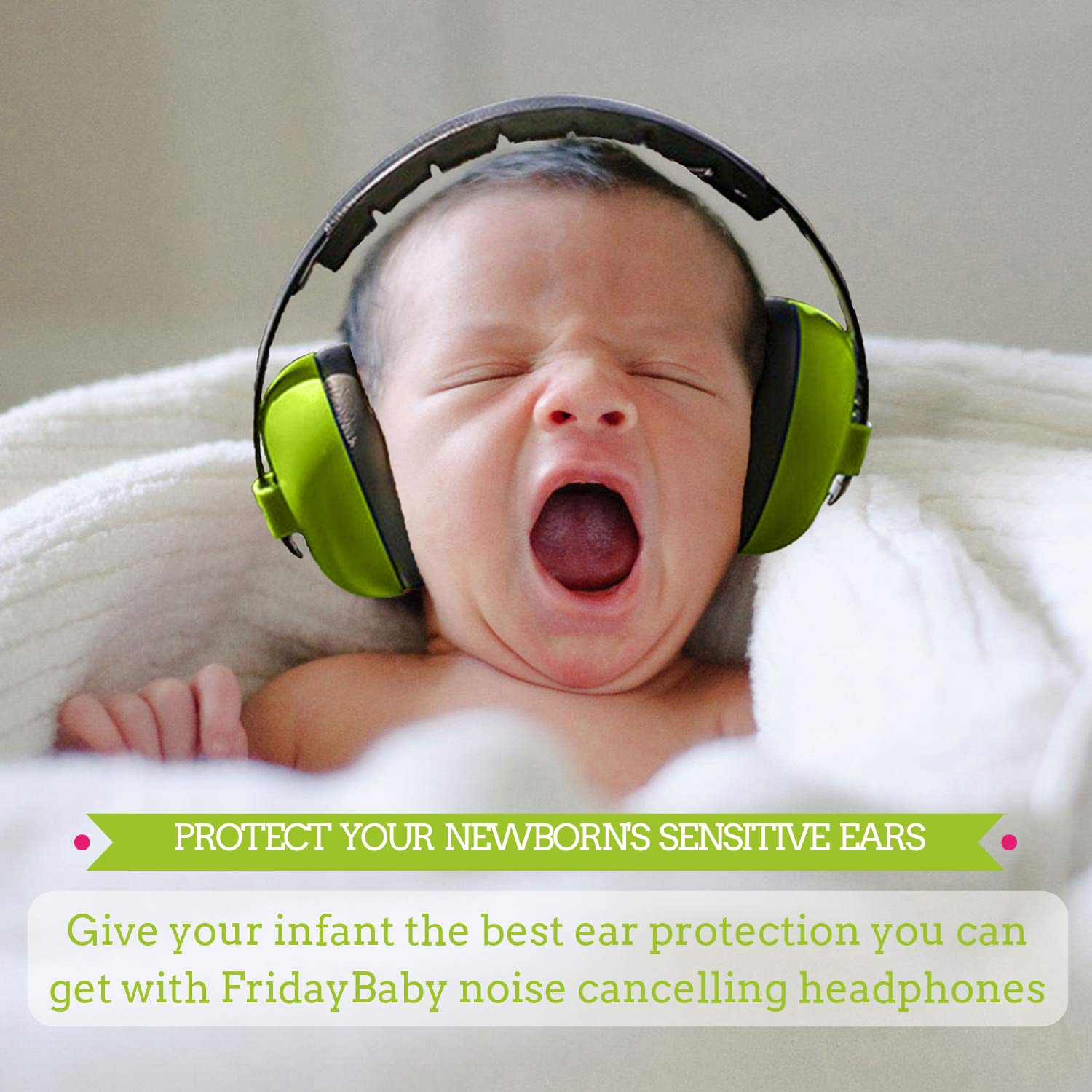 Baby Ear Protection - Comfortable and Adjustable Premium Noise Cancelling Headphones for Babies, Infants, Newborns (0-2+ Years) | Best Baby Headphones Noise Reduction for Concerts, Fireworks & Travels by Friday Baby (Image #4)