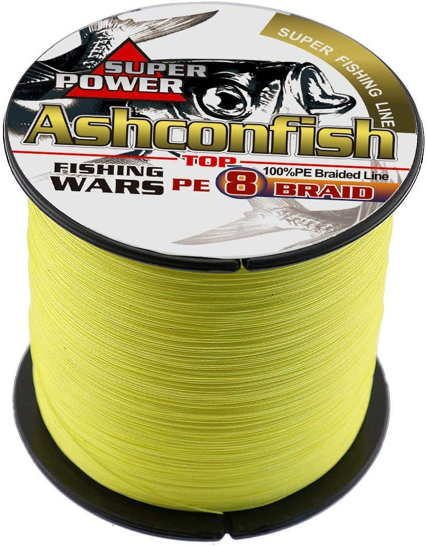 Braided Fishing Line-8 Strands Super Strong PE Braid Fishing Lines 100M-2000M 109Yards-2187Yds – Abrasion Resistant Braided Lines-6LB-300LB